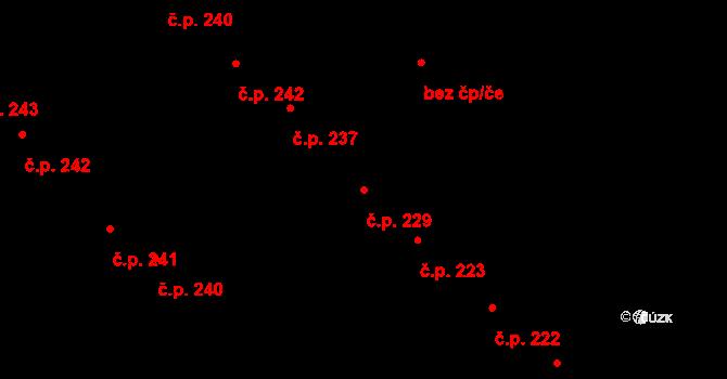 Plotiště nad Labem 229, Hradec Králové na parcele st. 301 v KÚ Plotiště nad Labem, Katastrální mapa