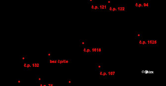 Hostivař 1618, Praha na parcele st. 285/4 v KÚ Hostivař, Katastrální mapa