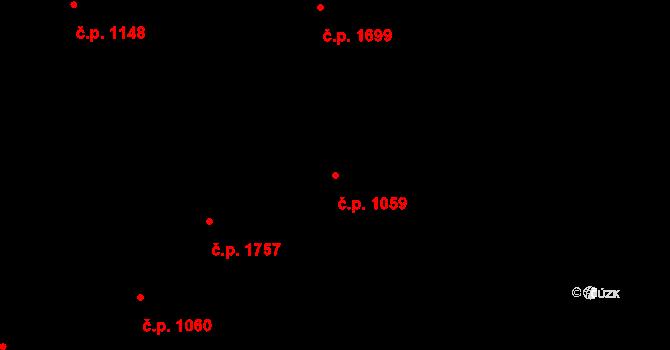 Nové Město 1059, Praha na parcele st. 230 v KÚ Nové Město, Katastrální mapa