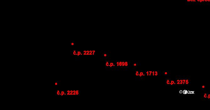 Vinohrady 1698, Praha na parcele st. 3787 v KÚ Vinohrady, Katastrální mapa