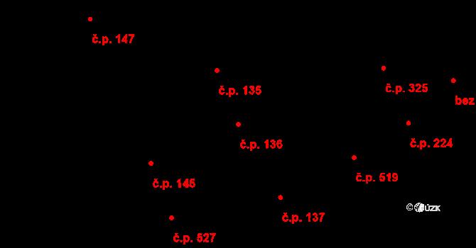 Vamberk 136 na parcele st. 502 v KÚ Vamberk, Katastrální mapa
