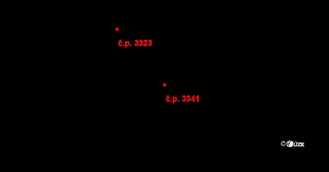 Martinov 3341, Ostrava, Katastrální mapa