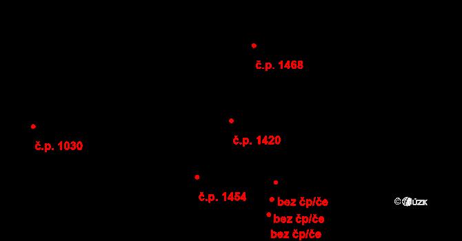 Holešovice 1420, Praha na parcele st. 613 v KÚ Holešovice, Katastrální mapa