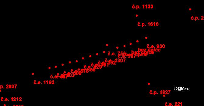 Aš 1307 na parcele st. 3476 v KÚ Aš, Katastrální mapa