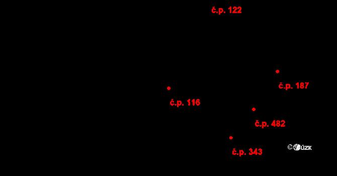 Žirovnice 116 na parcele st. 219/1 v KÚ Žirovnice, Katastrální mapa