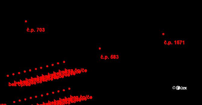 Krč 583, Praha na parcele st. 2076 v KÚ Krč, Katastrální mapa
