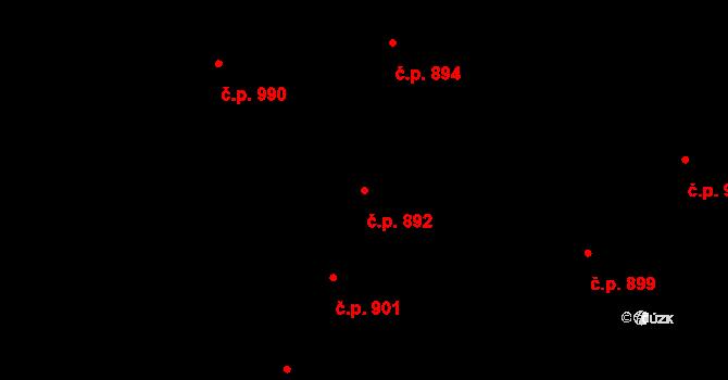 Husovice 892, Brno na parcele st. 574 v KÚ Husovice, Katastrální mapa