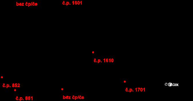 Švermov 1610, Kladno na parcele st. 1122 v KÚ Hnidousy, Katastrální mapa