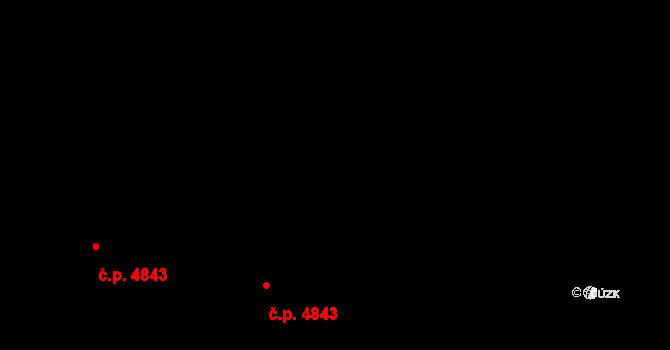 Jihlava 4843 na parcele st. 4380/54 v KÚ Jihlava, Katastrální mapa