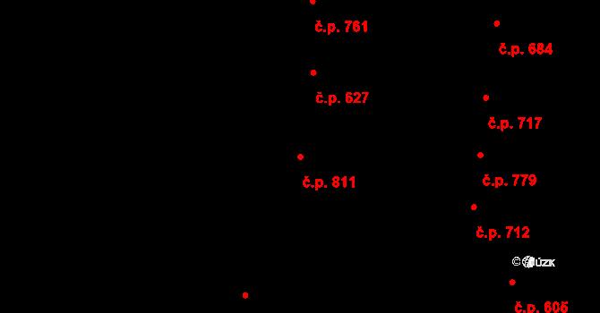 Nivnice 811 na parcele st. 1824 v KÚ Nivnice, Katastrální mapa