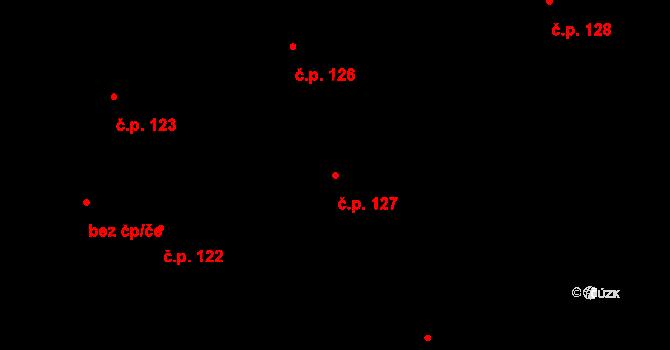 Staré Hodějovice 127 na parcele st. 328/30 v KÚ Staré Hodějovice, Katastrální mapa