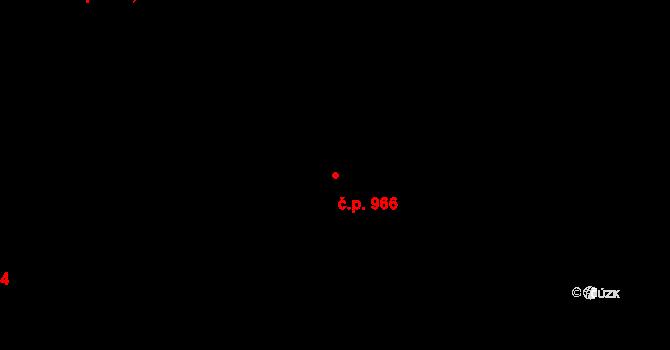 Studánka 966, Pardubice na parcele st. 962 v KÚ Studánka, Katastrální mapa