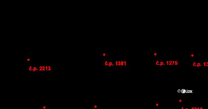 Smíchov 1381, Praha na parcele st. 272 v KÚ Smíchov, Katastrální mapa