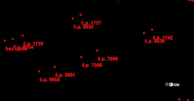 Zlín 7006 na parcele st. 8921 v KÚ Zlín, Katastrální mapa
