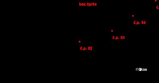 Žižkovo Pole 52 na parcele st. 75 v KÚ Žižkovo Pole, Katastrální mapa