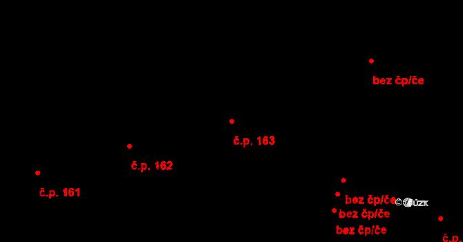 Studánka 163 na parcele st. 216 v KÚ Studánka u Tachova, Katastrální mapa