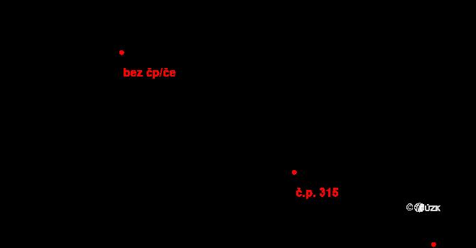 Staré Hory 315, Jihlava na parcele st. 6175/17 v KÚ Jihlava, Katastrální mapa