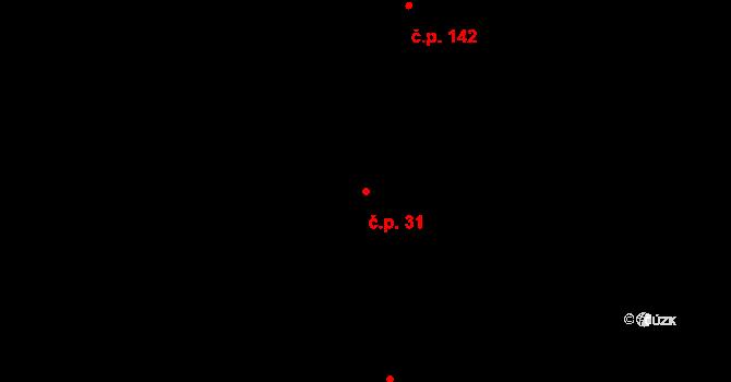 Žďár 31 na parcele st. 75 v KÚ Žďár u Mnichova Hradiště, Katastrální mapa