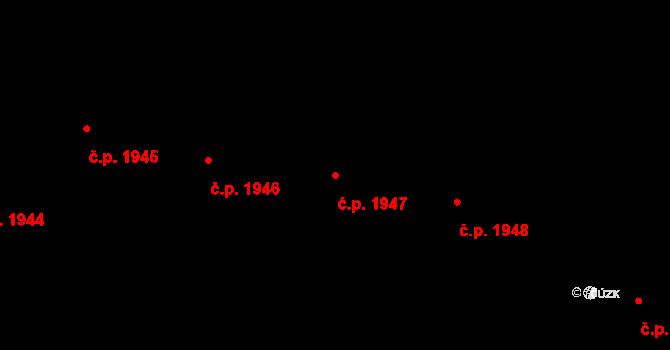 Poruba 1947, Ostrava na parcele st. 3751/90 v KÚ Poruba-sever, Katastrální mapa