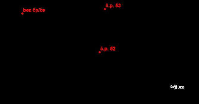 Sedlejov 52 na parcele st. 57 v KÚ Sedlejov, Katastrální mapa