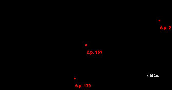 Pertoltice pod Ralskem 151 na parcele st. 403 v KÚ Pertoltice pod Ralskem, Katastrální mapa