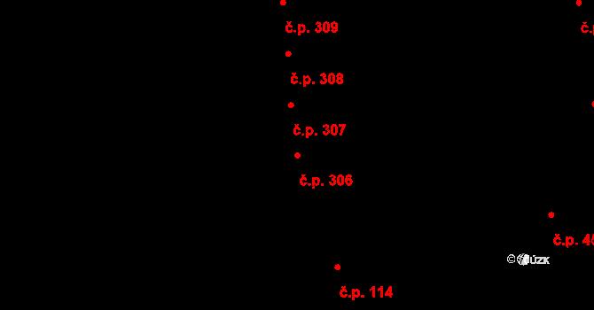 Kunčičky u Bašky 306, Baška na parcele st. 839 v KÚ Kunčičky u Bašky, Katastrální mapa