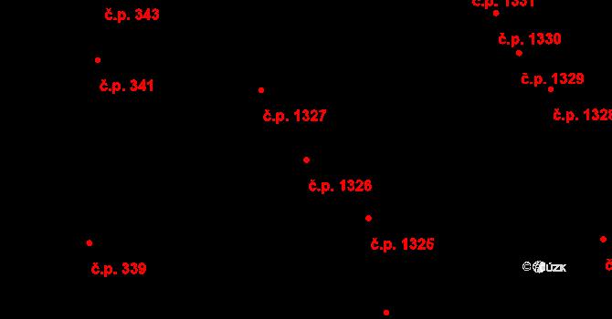 Černá Pole 1326, Brno na parcele st. 2476 v KÚ Černá Pole, Katastrální mapa