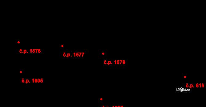 Nové Město 1578, Praha na parcele st. 2214 v KÚ Nové Město, Katastrální mapa