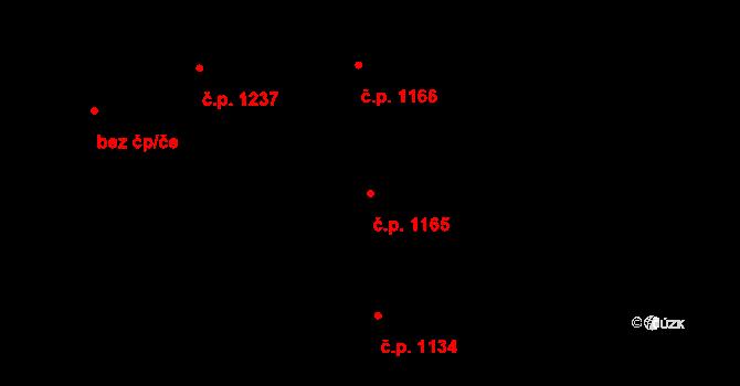 Smíchov 1165, Praha na parcele st. 588 v KÚ Smíchov, Katastrální mapa