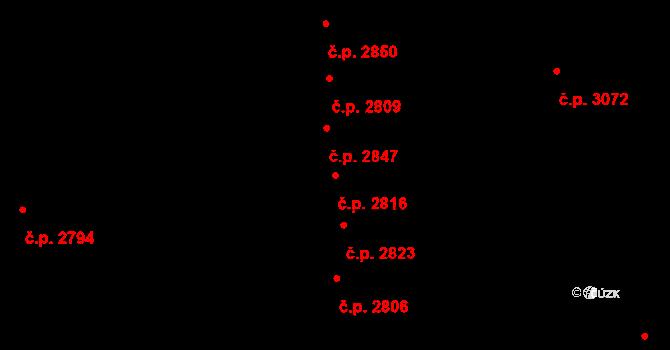 Líšeň 2816, Brno na parcele st. 3278/394 v KÚ Líšeň, Katastrální mapa
