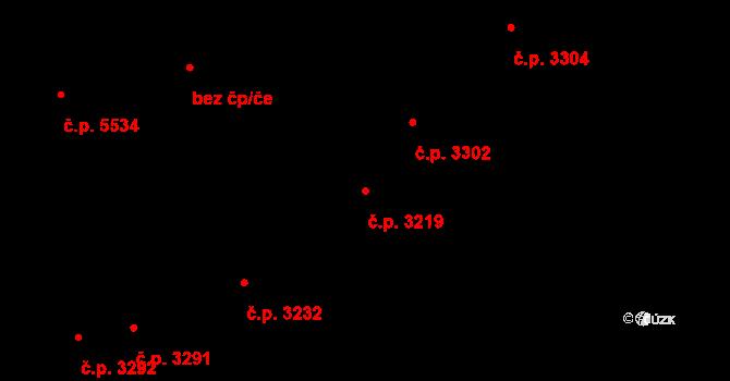 Zlín 3219 na parcele st. 3640 v KÚ Zlín, Katastrální mapa