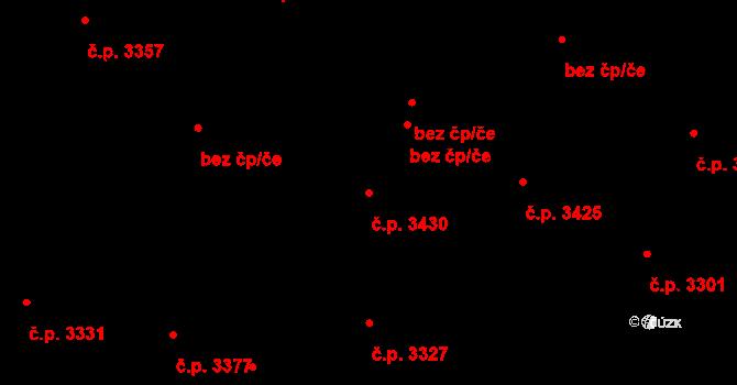 Strašnice 3430, Praha na parcele st. 4149/15 v KÚ Strašnice, Katastrální mapa