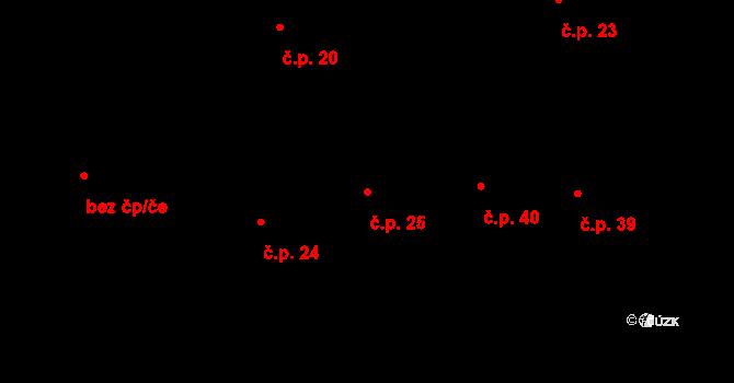 Dolní Bezděkov 25, Bratronice na parcele st. 83 v KÚ Dolní Bezděkov u Kladna, Katastrální mapa