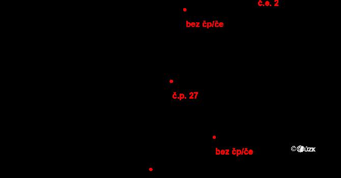 Rodná 27 na parcele st. 32/1 v KÚ Rodná, Katastrální mapa