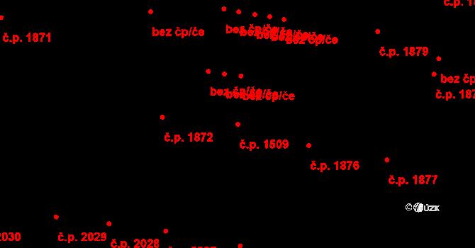 České Budějovice 3 1509, České Budějovice na parcele st. 4464/1 v KÚ České Budějovice 3, Katastrální mapa