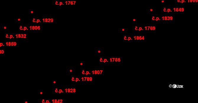 Hlučín 1786 na parcele st. 3071/629 v KÚ Hlučín, Katastrální mapa