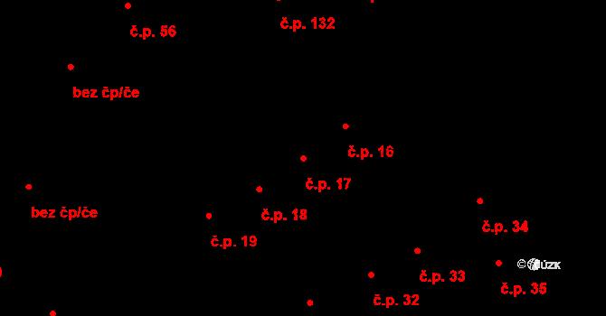 Starý Jičín 17 na parcele st. 53 v KÚ Starý Jičín, Katastrální mapa