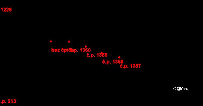 Stará Bělá 1358, Ostrava na parcele st. 1464/9 v KÚ Stará Bělá, Katastrální mapa
