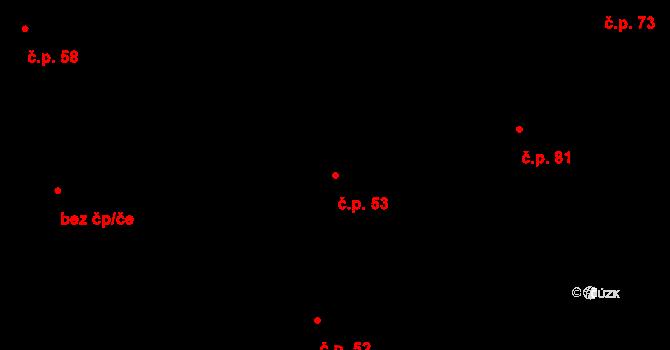 Sedlejov 53 na parcele st. 58 v KÚ Sedlejov, Katastrální mapa