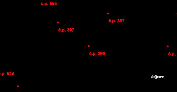 Bubeneč 396, Praha na parcele st. 930 v KÚ Bubeneč, Katastrální mapa