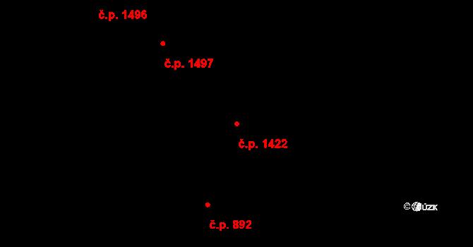 Holešovice 1422, Praha na parcele st. 622 v KÚ Holešovice, Katastrální mapa