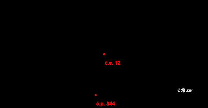 Nová Ves 12, Volfartice na parcele st. 204/1 v KÚ Volfartická Nová Ves, Katastrální mapa