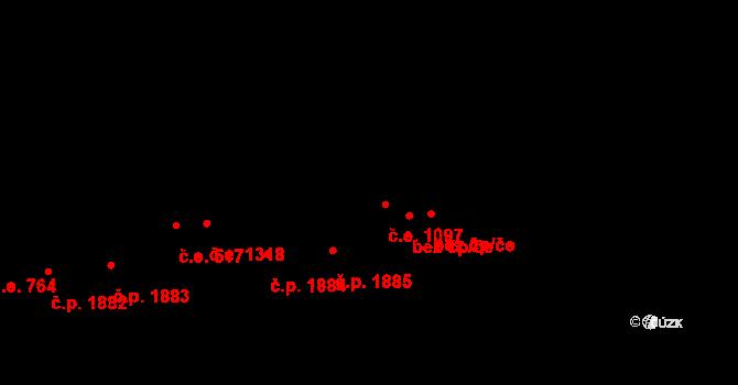 Aš 1097 na parcele st. 4553 v KÚ Aš, Katastrální mapa