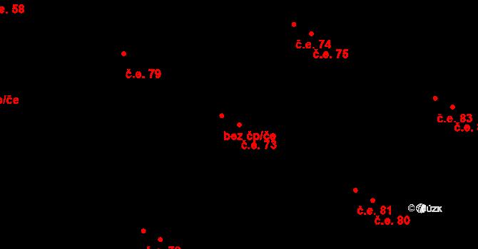 Malé Březno 73 na parcele st. 104/16 v KÚ Malé Březno, Katastrální mapa
