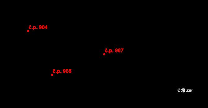 Liberec XV-Starý Harcov 907, Liberec na parcele st. 875/2 v KÚ Starý Harcov, Katastrální mapa
