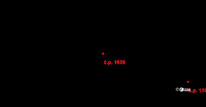 Nusle 1638, Praha na parcele st. 1059/2 v KÚ Nusle, Katastrální mapa
