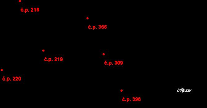 Mladcová 309, Zlín na parcele st. 573 v KÚ Mladcová, Katastrální mapa