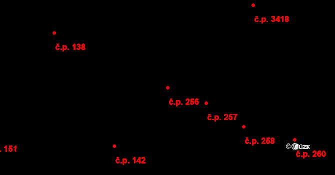 Černovice 256, Brno na parcele st. 56 v KÚ Černovice, Katastrální mapa