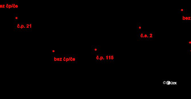 Doubrava 115, Aš na parcele st. 132 v KÚ Doubrava u Aše, Katastrální mapa