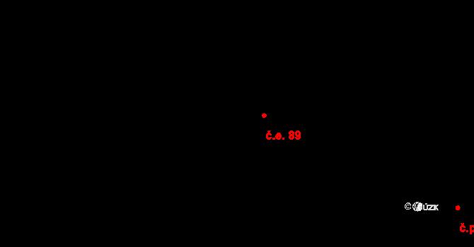 Vysoká 89, Jihlava na parcele st. 36/2 v KÚ Vysoká u Jihlavy, Katastrální mapa